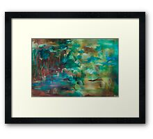 Swallows Gather Framed Print