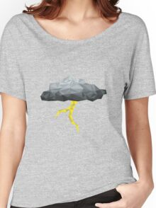 Thunder Cloud Low Poly Women's Relaxed Fit T-Shirt
