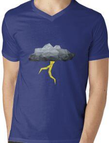 Thunder Cloud Low Poly Mens V-Neck T-Shirt