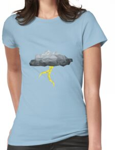 Thunder Cloud Low Poly Womens Fitted T-Shirt