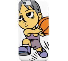 Basketball cartoon art iPhone Case/Skin