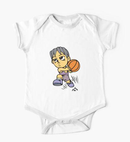 Basketball cartoon art One Piece - Short Sleeve