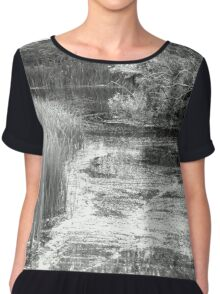 Late spring at the lake  Women's Chiffon Top