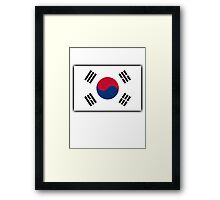KOREA, KOREAN, South Korean Flag, National flag of South Korea Framed Print