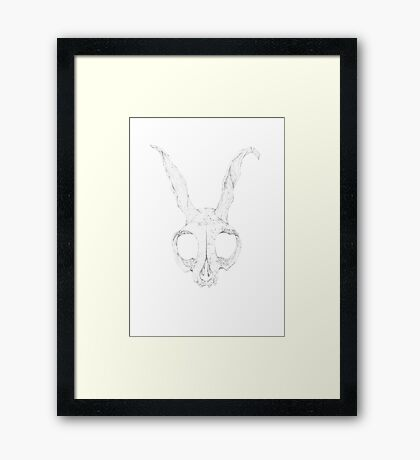 Frank Skull, Light Alternate Detail Version Framed Print