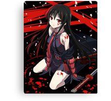akame - Kill the Carnage Canvas Print