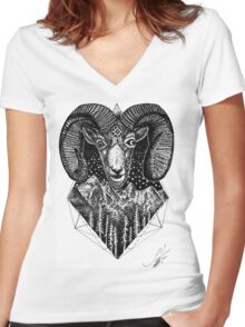 Get Rammed  Women's Fitted V-Neck T-Shirt