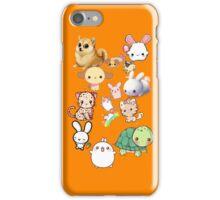 Kawaii Animals Collection (Orange) iPhone Case/Skin
