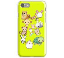 Kawaii Animals Collection (Yellow) iPhone Case/Skin