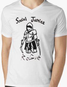 Social Justice Rogue Mens V-Neck T-Shirt