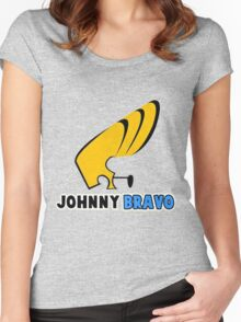 johnny bravo Women's Fitted Scoop T-Shirt