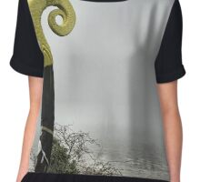 Viking ship sailing into the mist Chiffon Top