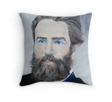 HERMAN MELVILLE - oil portrait Throw Pillow