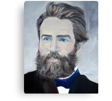 HERMAN MELVILLE - oil portrait Canvas Print