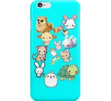 Kawaii Animals Collection (Blue) iPhone Case/Skin