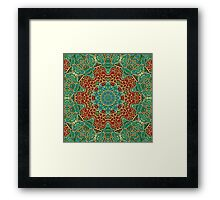 The wooden heart mandala,giving calm Framed Print