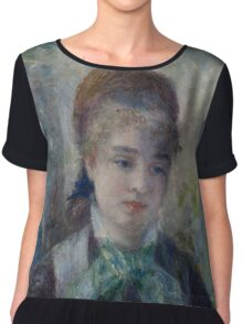Auguste Renoir - Portrait of Nini Lopez 1876 Woman Portrait Chiffon Top