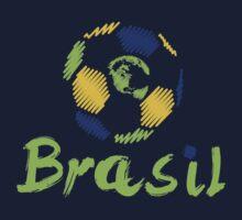 Brazilian soccer football Kids Tee