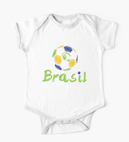 Brazilian soccer football One Piece - Short Sleeve