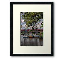 Docked Shrimp Boats Framed Print