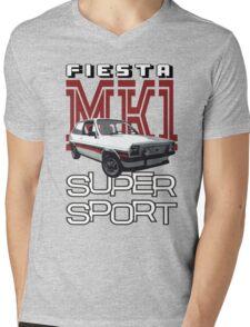 Ford Fiesta Super-Sport Classic Car T-shirts Mens V-Neck T-Shirt