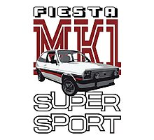 Ford Fiesta Super-Sport Classic Car T-shirts Photographic Print