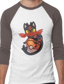 Litten Men's Baseball ¾ T-Shirt