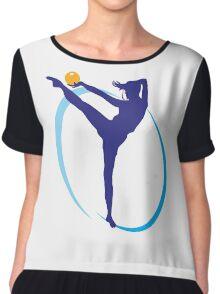 Gymnastics girl with ball Chiffon Top