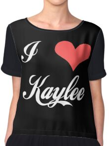 Firefly: I Heart Kaylee for Dark Backgrounds Chiffon Top