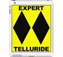 TELLURIDE COLORADO DOUBLE BLACK DIAMOND SKIING SKI EXPERT ONLY iPad Case/Skin