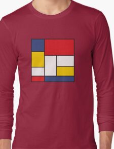 In the Style of Mondrian Long Sleeve T-Shirt