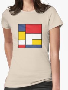 In the Style of Mondrian Womens Fitted T-Shirt