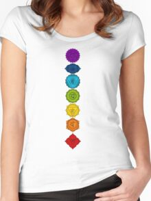 The seven chakras Women's Fitted Scoop T-Shirt