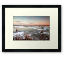 Lake Sunset in Winter Framed Print