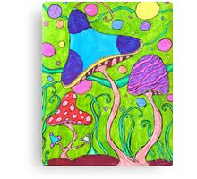 Whimsical Neon Forest Canvas Print