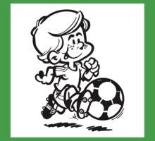 Soccer player cartoon Kids Tee