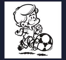Soccer player cartoon Kids Tee