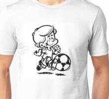 Soccer player cartoon Unisex T-Shirt