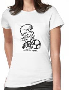 Soccer player cartoon Womens Fitted T-Shirt