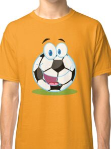 Cartoon soccer smiley ball Classic T-Shirt