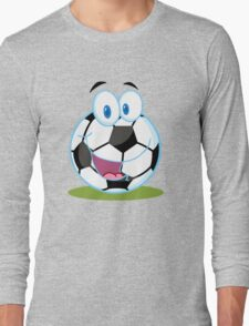 Cartoon soccer smiley ball Long Sleeve T-Shirt