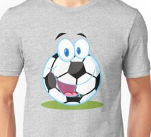 Cartoon soccer smiley ball Unisex T-Shirt