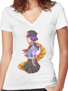 Spinal Chord Injury Girl Women's Fitted V-Neck T-Shirt