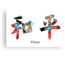 Chinese Symbol - Peace Sign 11 Canvas Print