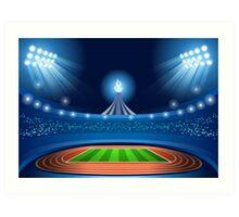 Stadium Background 2016 Summer Games Art Print