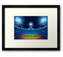 Stadium Background 2016 Summer Games Framed Print