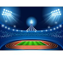 Stadium Background 2016 Summer Games Photographic Print