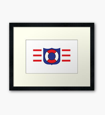 Coast Guard Lego Framed Print