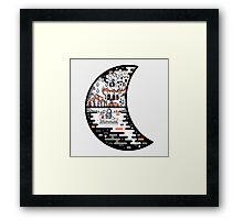surreal moon landscape Framed Print