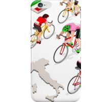 Cyclists Giro Italia iPhone Case/Skin